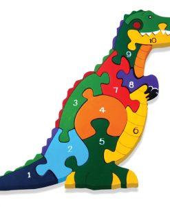 Number T Rex Jigsaw