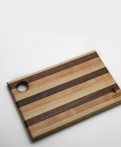 Small Striped Chopping Board