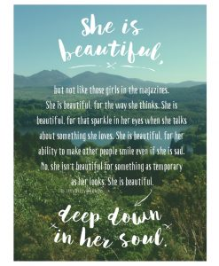 She is Beautiful Print