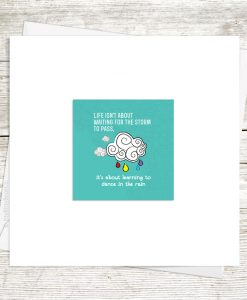 Dance In The Rain Greetings Card