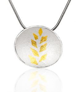 Gold Leaf Collection Small Pendant
