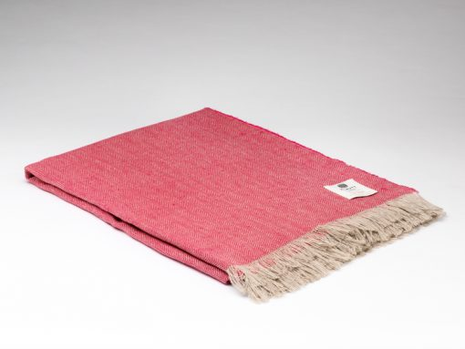 Magenta Irish Linen Throw
