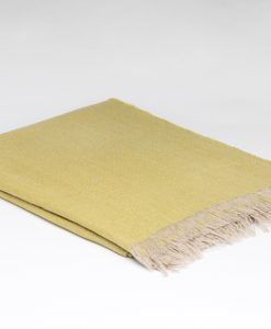 Blazing yellow Irish linen throw
