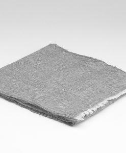 Dove Grey Linen Scarf