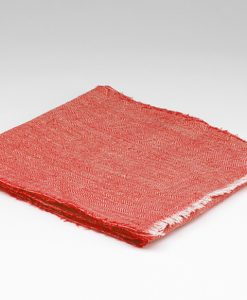 Spiced Coral Irish Linen Scarf