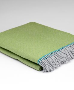 spring green pure wool blanket
