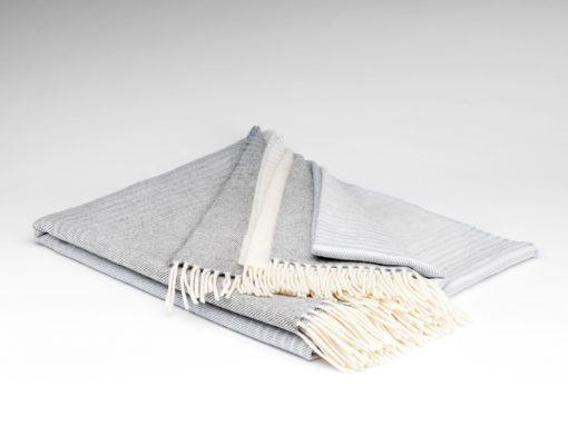 ombre grey merino wool throw