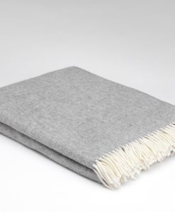 Uniform Grey Merino Wool Throw