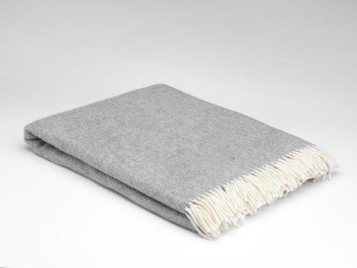 Uniform Grey Merino Wool Throw