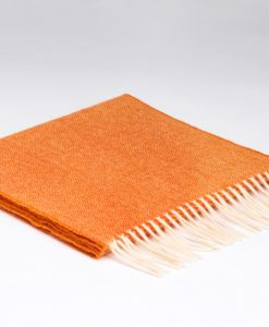 Sunset Orange Herringbone Scarf