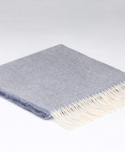 Smokey Grey Herringbone Scarf