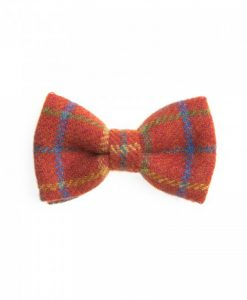 Checkered Crimson Donegal Tweed Bow Tie