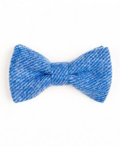 Cornflower Blue Donegal Tweed Bow Tie