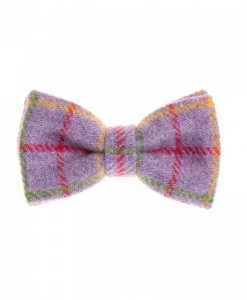 Mixed Lavender Donegal Tweed Bow Tie