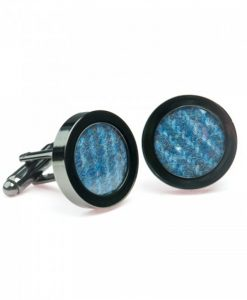 Cornflower Blue Donegal Tweed Cufflinks