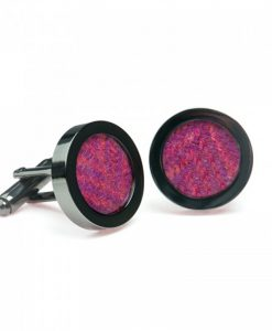 Royal Pink Donegal Tweed Cufflinks