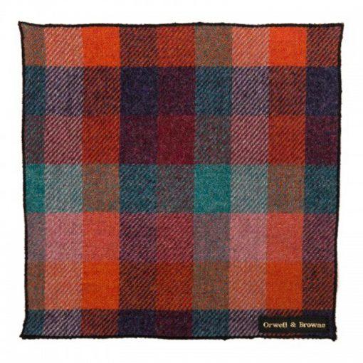 Harlequin Donegal Tweed Pocket Square