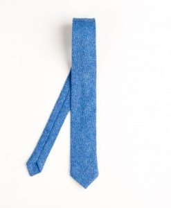 Cornflower Blue Donegal Tweed Tie
