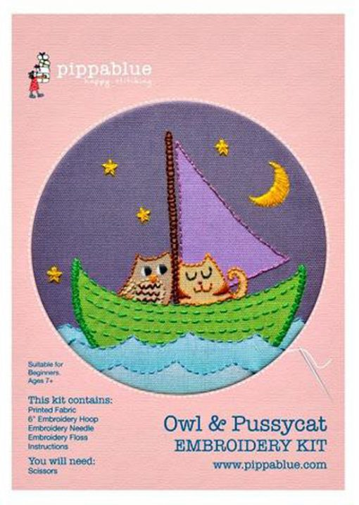 Owl and Pussycat Embroidery Kit