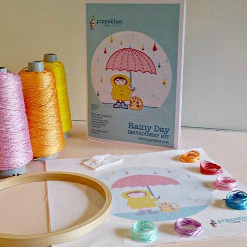 Rainy Day Embroidery Kit
