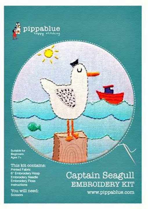 Captain Seagull Embroidery Kit