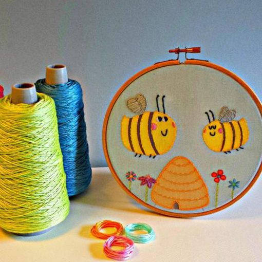 Happy Bees Embroidery Kit