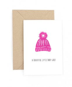 Beautiful Little Baby Girl Greetings Card
