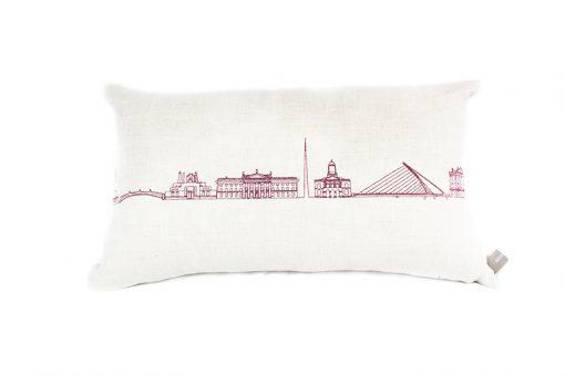 Dublin Skyline Irish Linen Cushion