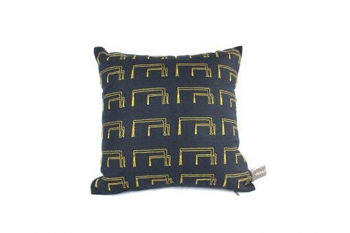 Belfast Cranes Irish Linen Cushion