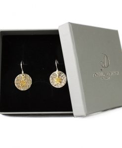 Silver and Gold Plated Star Earrings