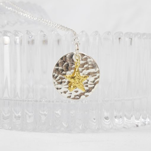 Silver and Gold Plated Star Pendant