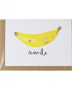 Banana Smile Greetings Card