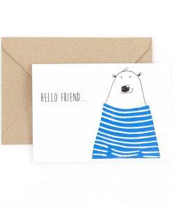 Hello Friend Greetings Card