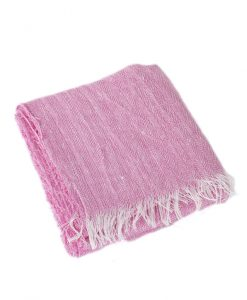 Soft Pink Irish Linen Scarf