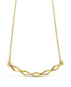 Art Deco Collection Gold Smile Necklace