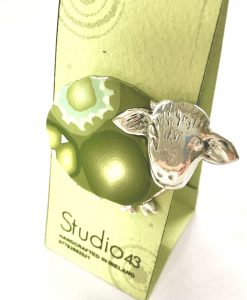 Green Sheep Brooch