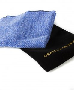 Cornflower Blue Donegal Tweed Pocket Square