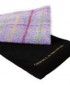 MIxed Lavender Donegal Tweed Pocket Square