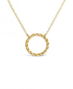 Rope Circle Collection Gold Necklace