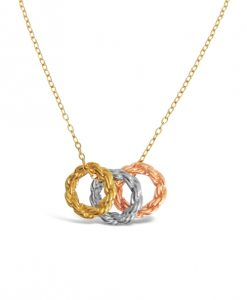Rope Circle Collection Triple Necklace