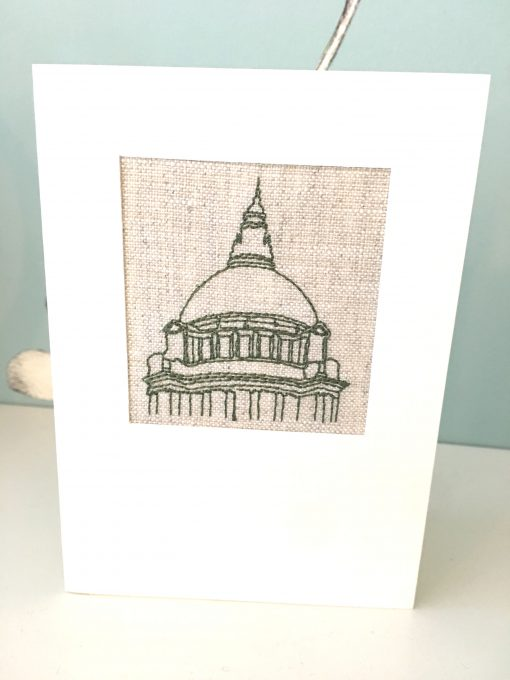 Belfast City Hall Irish Linen Greetings Card