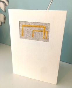 Belfast Cranes Irish Linen Greetings Card
