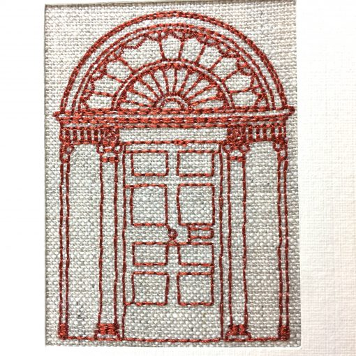 Georgian Door Irish Linen Greetings Card