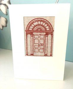 Georgian Door Irish Linen Greetings Card