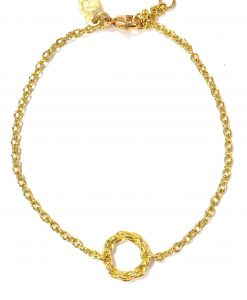 Rope Circle Collection Gold Bracle