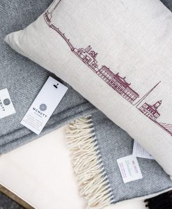 Dublin Skyline Irish Linen Cushion